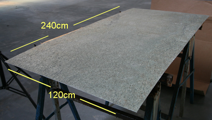 Schiefer Naturstein Tapete silber grau