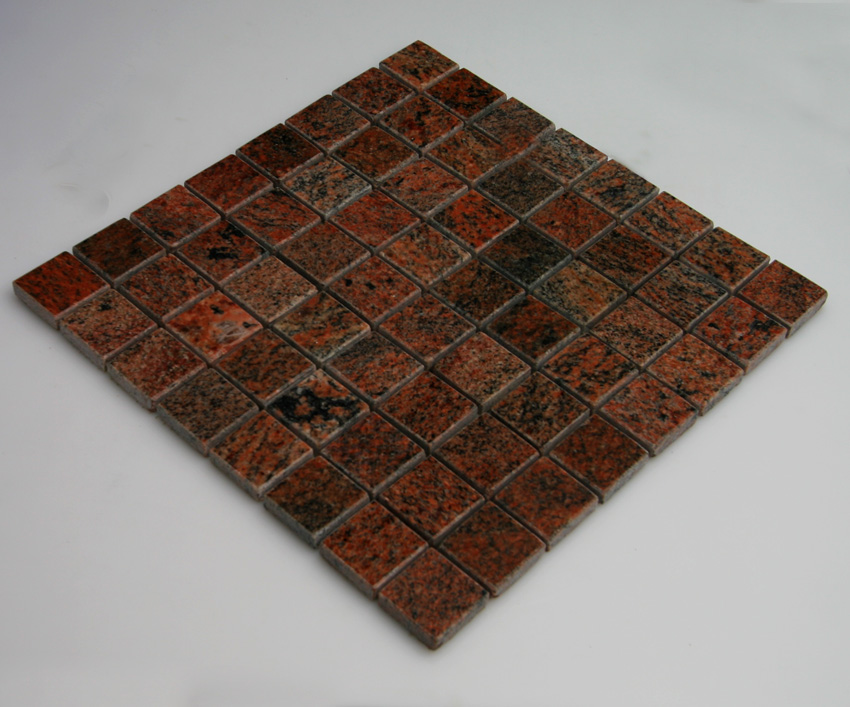 Mosaikfliesen Multicolor rot Granit